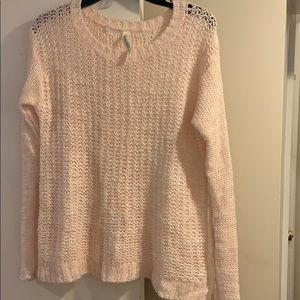 pale pink aeropostale sweater